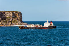 Cement carrier ship on the Sydney Harbour Stock Photo
