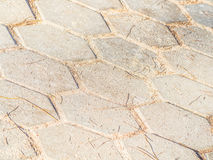 Cement or concrete polygon shape blocks pattern and background Stock Image