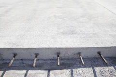 Cement concrete road construction Royalty Free Stock Image