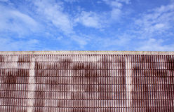 Cement concrete  wall and blue sky white clouds Stock Photography