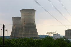 Cement Cooling Towers Stock Image