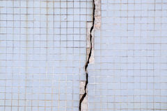 Cement crack wall texture background Stock Photography