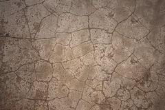 Cement cracked floor as background Stock Image