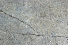 Cement. Cracking cement on the ground, may be dangerous Royalty Free Stock Photography