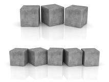 Cement cubes Stock Photos