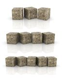 Cement cubes Stock Photography