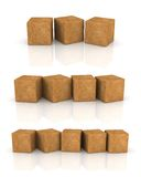 Cement cubes Stock Image