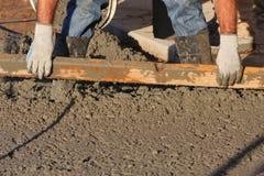 Cement days. Cement concrete working, men labor Stock Images