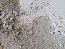 The cement debris damaged chipped cracked by time deterioration Stock Photo