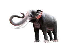 Cement elephant  isolate on white background,with clipping path. Stock Photography