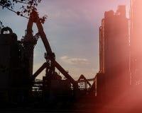 Cement för industrianläggning för tillverkning av Arkivfoto