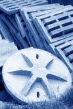 Cement fabrikstillverkade delarna till delar som tillsammans staplades Royaltyfria Foton