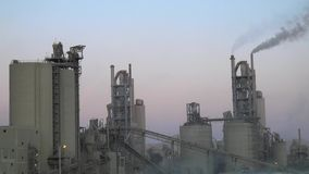 Cement factories in the middle east stock footage