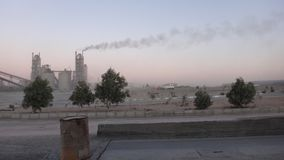 Cement Factories in the Middle East royalty free stock photos
