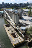 Cement Factory. A cement factory on False Creek in downtown Vancouver Royalty Free Stock Image