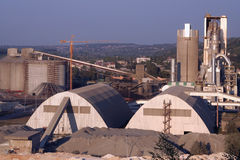 Cement factory Stock Photo