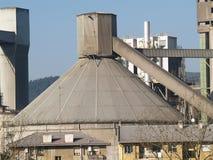 Cement factory. Silo royalty free stock photos