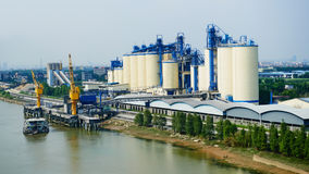 Free Cement Factory Stock Photography - 60157582