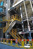 Cement factory. Inside of the cement factory on lake of Iseo Stock Photos
