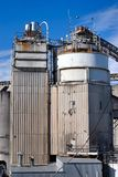 Cement Factory. Tall buildings at cement plant, Granville Island, Vancouver, Canada Stock Image