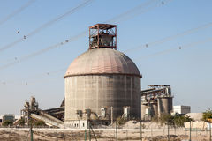 Cement factory building Stock Photo