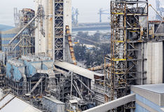 Cement factory Royalty Free Stock Image