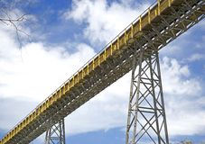 Cement Factory Conveyor Royalty Free Stock Photos