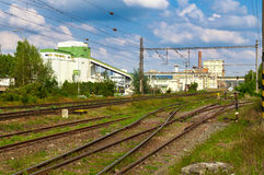 Cement factory, Czech Republic Royalty Free Stock Images