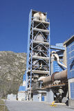 Cement factory detail view. Royalty Free Stock Images