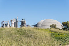 Cement factory, environmental impact, Jerez de la Frontera, Spai Stock Images