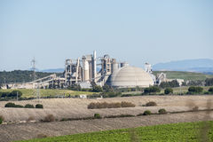 Cement factory, environmental impact, Jerez de la Frontera, Spai Stock Photo