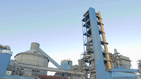 Cement factory stock video