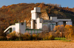 Cement factory in Germany in Autumn Royalty Free Stock Photo
