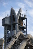 Cement factory machinery Stock Image