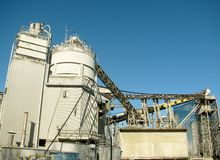 Cement factory machinery Royalty Free Stock Photography