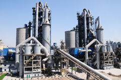 Cement factory overall view Royalty Free Stock Photos