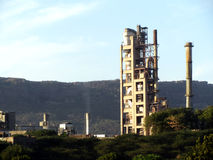 Cement factory plant Royalty Free Stock Image