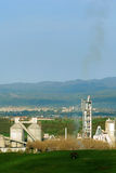 Cement factory pollution Royalty Free Stock Photos