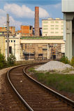 Cement factory,railroad tracks, Czech Republic Royalty Free Stock Photography