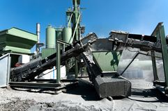 Cement Factory on road construction site Stock Image
