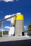 Cement Factory Silo Stock Photography