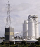 Cement factory silo and tower Stock Images