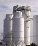 Cement factory silo and tower Royalty Free Stock Photo