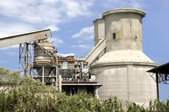 Cement Factory Silos Stock Images