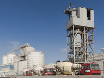 Cement Factory and Trucks Royalty Free Stock Image