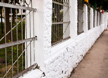 Cement fence. Stock Images