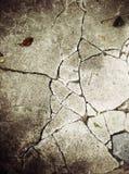The cement floor is split Stock Photography