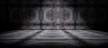 Cement floor and wall background Stock Photos