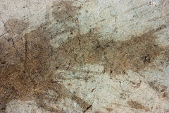 Cement floors are old and dirty. Royalty Free Stock Images