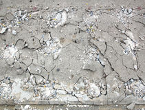 Cement fracture surface destruction. Construction of the road Stock Images